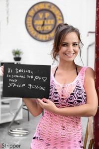 istripper fansign Stella Jones