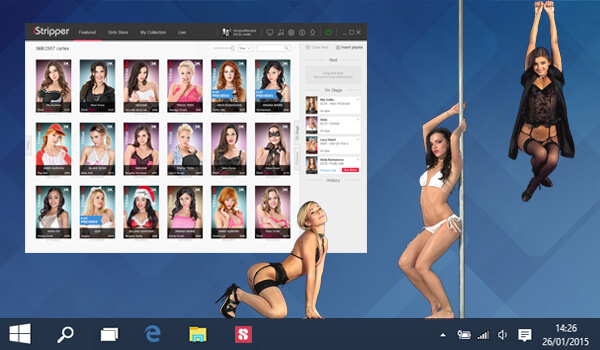 iStripper: software of strippers for desktops